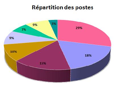 répartition des postes après un DSCG